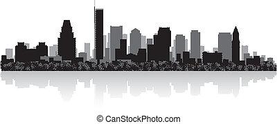 boston, silhouette horizon, ville