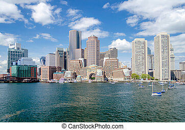 Boston Skyline as seen from the Bay