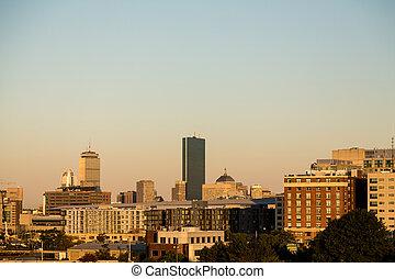 Boston Skyline in Morning Light