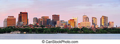 Boston skyline panorama