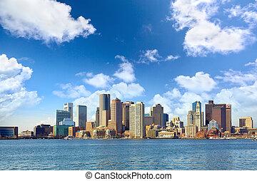 Boston skyline - Skyline of Boston downtown, Massachusetts,...