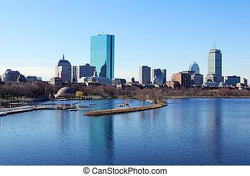 Boston skyline from the Charles River, Massachusetts, USA