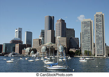 Boston skylines taken from the Charles River 1 - Boston ...