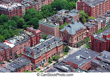 Boston Street aerial view