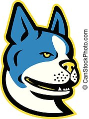 Boston-Terrier-Dog-HEAD MASCOT