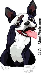 Boston Terrier Salute - Illustration of Boston terrier...