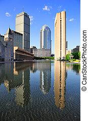 Boston urban architecture - Christian Science Plaza in...