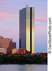 Boston urban city skyline