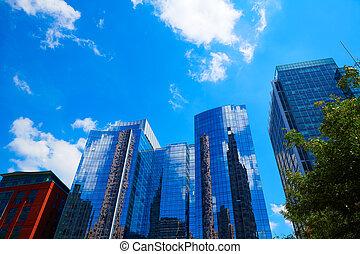 boston, w, massachusetts, śródmieście, buidings