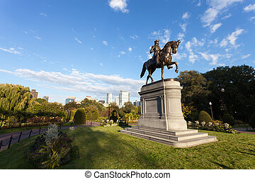boston, washington george, statue