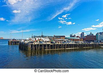 Boston Wharf and Charles River