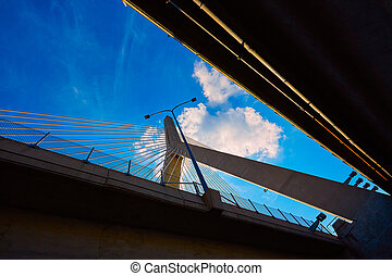 Boston Zakim bridge in Bunker Hill Massachusetts