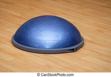 bosu, kugel, (modern, turnhalle, ball)