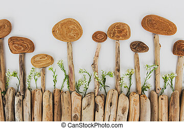 botánica, ramas, naturaleza, árbol, -, ambiente, flowers., corteza