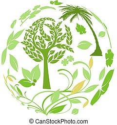 botánico, alrededor del mundo