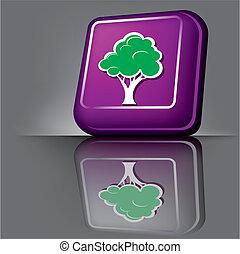 botão, árvore
