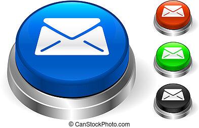 botão, ícone, internet, correio