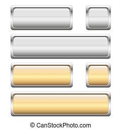 botão, 2, cores, cobrança