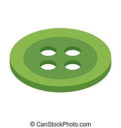 botão, 3d, isometric, ícone
