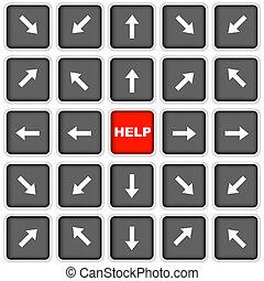 botão, ajuda