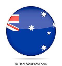 botão, bandeira austrália