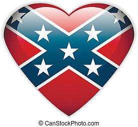 botão, bandeira, confederado