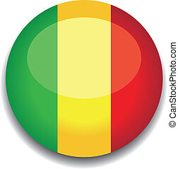 botão, bandeira, mali