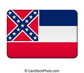 botão, bandeira, mississippi