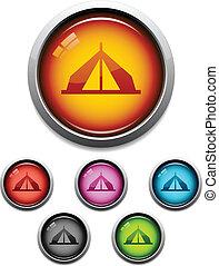 botão, barraca, ícone