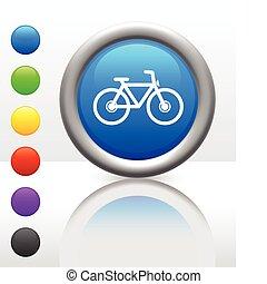 botão, bicicleta, ícone, internet