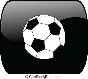 botão, bola futebol