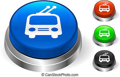 botão, bonde, ícone, internet