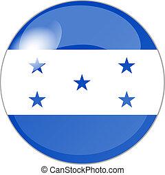 botão, com, bandeira, honduras