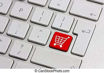 botão, compra varejo