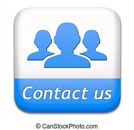 botão, contactar-nos