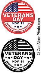 botão, dia veterans