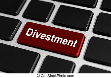 botão, divestment, teclado