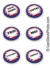 botão, eleição, cobrança