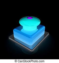 botão emergência, 3d, ícone