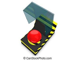 botão emergência