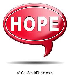 botão, esperança