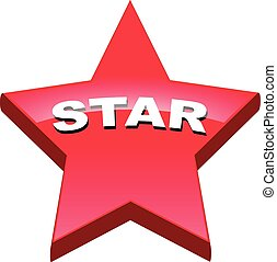 botão, estrela