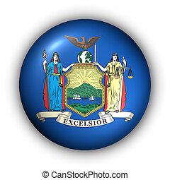 botão, eua, bandeira estatal