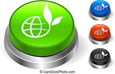 botão, globo, ícone, internet