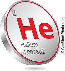 botão, hélio