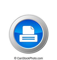 botão, impressora