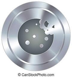 botão, industrial, biscoito, ícone