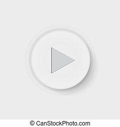 botão, jogo, ícone