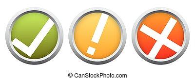 botão, jogo, -, positivo, e, negativo, semáforos