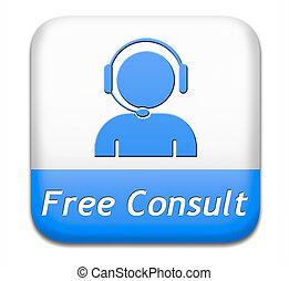 botão, livre, consultar
